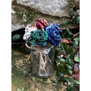 Mothers Day Rainbow Rose Bouquet upcycled tie
